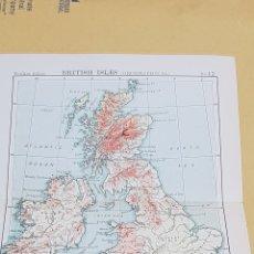 Mapas contemporáneos: ISLAS BRITÁNICAS MAPA N°12 POCKET ATLAS 16 X 12 CENTÍMETROS. Lote 252934670