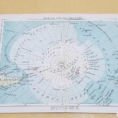 Mapas contemporáneos: REGIONES POLO SUR MAPA N°9 POCKET ATLAS 16 X 12 CENTÍMETROS. Lote 252934980