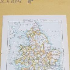 Mapas contemporáneos: INGLATERRA CON GALES MAPA N°14 POCKET ATLAS 16 X 12 CENTÍMETROS. Lote 252935360