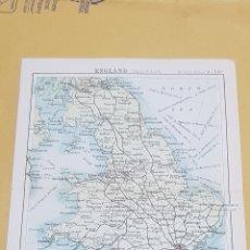 Mapas contemporáneos: INGLATERRA MAPA N°14A POCKET ATLAS 16 X 12 CENTÍMETROS. Lote 252935820