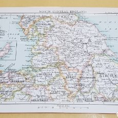 Mapas contemporáneos: INGLATERRA NORTE CENTRAL MAPA N° 15 POCKET ATLAS 16 X 12 CENTÍMETROS. Lote 252936200