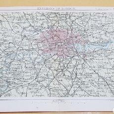 Mapas contemporáneos: LONDRES ALREDEDORES MAPA N°17 POCKET ATLAS 16 X 12 CENTÍMETROS. Lote 252937195