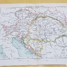 Mapas contemporáneos: AUSTRIA Y HUNGRÍA MAPA N°31 POCKET ATLAS 16 X 12 CENTÍMETROS. Lote 252942545