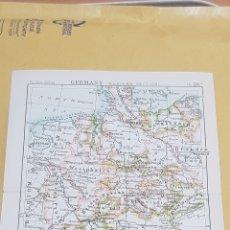 Mapas contemporáneos: ALEMANIA SECCION OCCIDENTAL MAPA N°28 A POCKET ATLAS 16 X 12 CENTÍMETROS. Lote 252942875