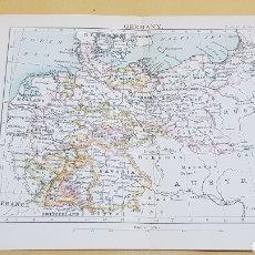 Mapas contemporáneos: ALEMANIA MAPA N°28 POCKET ATLAS 16 X 12 CENTÍMETROS. Lote 252943270