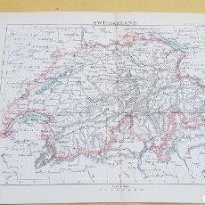 Mapas contemporáneos: SUIZA MAPA N°27 POCKET ATLAS 16 X 12 CENTÍMETROS. Lote 252943455