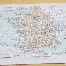 Mapas contemporáneos: FRANCIA MAPA N°25 POCKET ATLAS 16 X 12 CENTÍMETROS. Lote 252943625