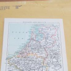 Mapas contemporáneos: HOLANDA Y BÉLGICA MAPA N°24 POCKET ATLAS 16 X 12 CENTÍMETROS. Lote 252943780
