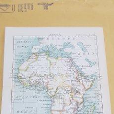 Mapas contemporáneos: ÁFRICA MAPA N° 43 POCKET ATLAS 16 X 12 CENTÍMETROS. Lote 252944110