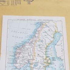 Mapas contemporáneos: SUECIA - NORUEGA - DINAMARCA MAPA N°29 POCKET ATLAS 16 X 12 CENTÍMETROS. Lote 252944395