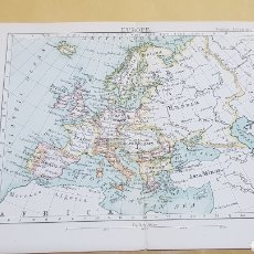 Mapas contemporáneos: EUROPA MAPA N°10 POCKET ATLAS 16 X 12 CENTÍMETROS. Lote 252944895
