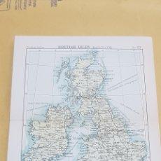 Mapas contemporáneos: ISLAS BRITÁNICAS FERROCARRIL MAPA N°13 POCKET ATLAS 16 X 12 CENTÍMETROS. Lote 252945065