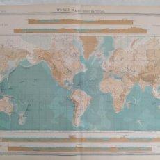 Mapas contemporáneos: GRABADO ORIGINAL DEL SURVEY ATLAS. J.G. BARTHOLOMEW, LONDRES. 1920. BATHY-OROGRAPHICAL. PLATE 2. Lote 253288540