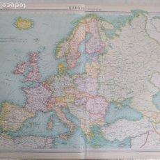 Mapas contemporáneos: GRABADO ORIGINAL DEL SURVEY ATLAS. J.G. BARTHOLOMEW, LONDRES. 1920. EUROPE, POLITICAL MAP,. Lote 253291710