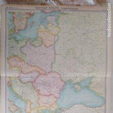 Mapas contemporáneos: GRABADO ORIGINAL DEL SURVEY ATLAS. J.G. BARTHOLOMEW, LONDRES. 1920.EASTERN EUROPE, POLITICAL. Lote 253305580