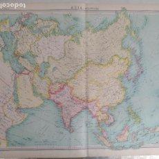 Mapas contemporáneos: GRABADO ORIGINAL DEL SURVEY ATLAS. J.G. BARTHOLOMEW, LONDRES.1920. ASIA, POLITICAL MAP. Lote 253327300