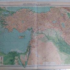 Mapas contemporáneos: GRABADO ORIGINAL DEL SURVEY ATLAS. J.G. BARTHOLOMEW, LONDRES.1920. ASIA MINOR, SYRIA&MESOPOTAMIA. Lote 253327900