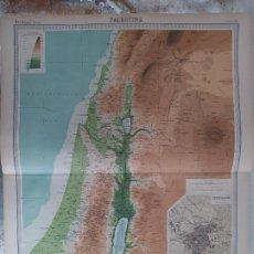 Mapas contemporáneos: GRABADO ORIGINAL DEL SURVEY ATLAS. J.G. BARTHOLOMEW, LONDRES.1920. PALESTINE PLAN OF JERUSALEM. Lote 253328215