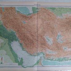 Mapas contemporáneos: GRABADO ORIGINAL DEL SURVEY ATLAS. J.G. BARTHOLOMEW, LONDRES.1920. PERSIA. Lote 253328425