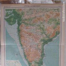 Mapas contemporáneos: GRABADO ORIGINAL DEL SURVEY ATLAS. J.G. BARTHOLOMEW, LONDRES.1920. INDIA-SOUTHER SECTION. Lote 253331740