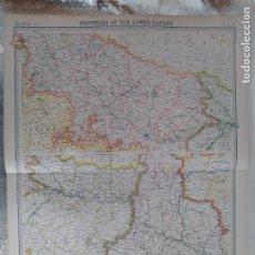 Mapas contemporáneos: GRABADO ORIGINAL DEL SURVEY ATLAS. J.G. BARTHOLOMEW, LONDRES.1920. THE GANGES VALLEY. Lote 253332530