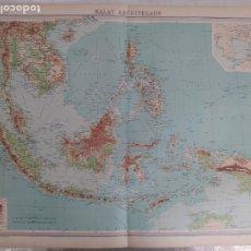 Mapas contemporáneos: GRABADO ORIGINAL DEL SURVEY ATLAS. J.G. BARTHOLOMEW, LONDRES.1920. MALAY ARCHIPELAGO. Lote 253333045
