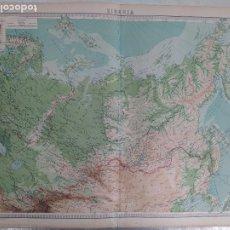 Mapas contemporáneos: GRABADO ORIGINAL DEL SURVEY ATLAS. J.G. BARTHOLOMEW, LONDRES.1920. SIBERIA. Lote 253334695