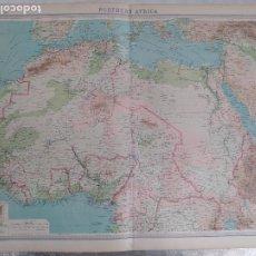 Mapas contemporáneos: GRABADO ORIGINAL DEL SURVEY ATLAS. J.G. BARTHOLOMEW, LONDRES.1920. NOTHERN AFRICA. Lote 253342000