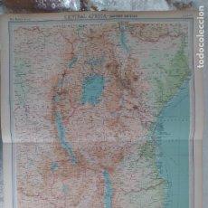 Mapas contemporáneos: GRABADO ORIGINAL DEL SURVEY ATLAS. J.G. BARTHOLOMEW, LONDRES.1920. CENTRAL AFRICA.EASTERN SECTION. Lote 253342755