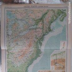 Mapas contemporáneos: GRABADO ORIGINAL DEL SURVEY ATLAS. J.G. BARTHOLOMEW, LONDRES.1920. UNITED STATES-EASTERN SECTION. Lote 253344640