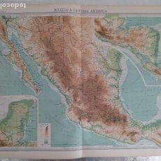 Mapas contemporáneos: GRABADO ORIGINAL DEL SURVEY ATLAS. J.G. BARTHOLOMEW, LONDRES.1920. MEXICO AND CENTRAL AMERICA. Lote 253345275
