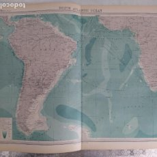 Mapas contemporáneos: GRABADO ORIGINAL DEL SURVEY ATLAS. J.G. BARTHOLOMEW, LONDRES.1920. SOUTH ATLANTIC OCEAN. Lote 253345625