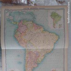 Mapas contemporáneos: GRABADO ORIGINAL DEL SURVEY ATLAS. J.G. BARTHOLOMEW, LONDRES.1920. SOUTH AMERCA POLITICAL MAP. Lote 253345775