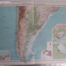 Mapas contemporáneos: GRABADO ORIGINAL DEL SURVEY ATLAS. J.G. BARTHOLOMEW, LONDRES.1920. SOUTH AMERICA, SOUTHERN SECTION. Lote 253346065
