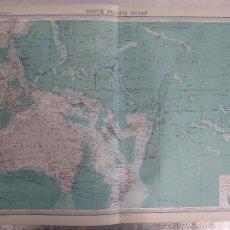 Mapas contemporáneos: GRABADO ORIGINAL DEL SURVEY ATLAS. J.G. BARTHOLOMEW, LONDRES.1920. SOUTH PACIFIC OCEAN. Lote 253346355