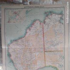 Mapas contemporáneos: GRABADO ORIGINAL DEL SURVEY ATLAS. J.G. BARTHOLOMEW, LONDRES.1920. AUSTRALIA, WESTERN SECTION. Lote 253346945