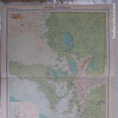 Mapas contemporáneos: GRABADO ORIGINAL DEL SURVEY ATLAS. J.G. BARTHOLOMEW, LONDRES.1920. SOUTH AUSTRALIA. Lote 253347605