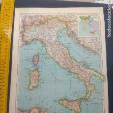 Mapas contemporáneos: AÑOS 50/60 ANTIGUO MAPA ESCUELA ITALIA IA 34 X 25. Lote 253568135