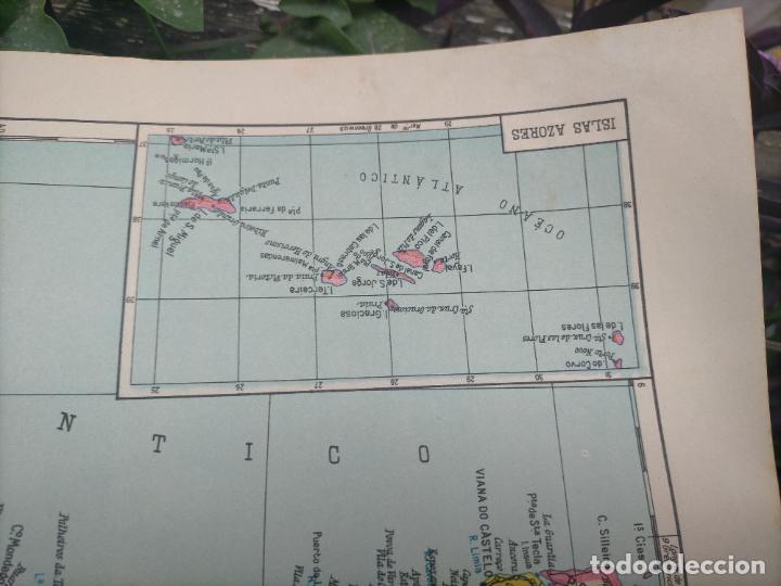 Mapas contemporáneos: 49X34 CM ANTIGUO MAPA ORIGINAL PORTUGAL . ISLAS DE CABO VERDE MADEIRAS AZORES - Foto 2 - 253718255