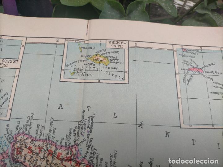 Mapas contemporáneos: 49X34 CM ANTIGUO MAPA ORIGINAL PORTUGAL . ISLAS DE CABO VERDE MADEIRAS AZORES - Foto 3 - 253718255