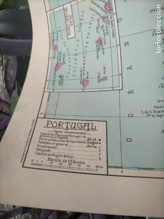 Mapas contemporáneos: 49X34 CM ANTIGUO MAPA ORIGINAL PORTUGAL . ISLAS DE CABO VERDE MADEIRAS AZORES - Foto 4 - 253718255