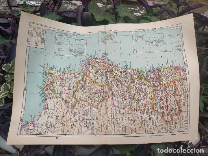 Mapas contemporáneos: 49X34 CM ANTIGUO MAPA ORIGINAL PORTUGAL . ISLAS DE CABO VERDE MADEIRAS AZORES - Foto 5 - 253718255