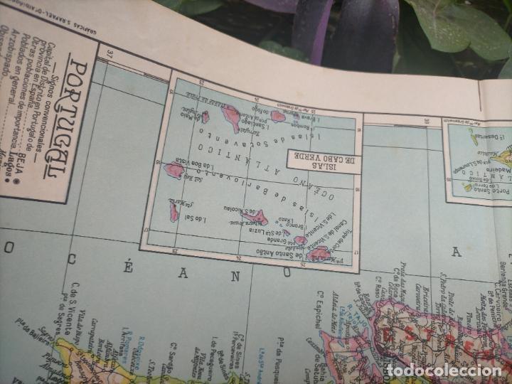 Mapas contemporáneos: 49X34 CM ANTIGUO MAPA ORIGINAL PORTUGAL . ISLAS DE CABO VERDE MADEIRAS AZORES - Foto 6 - 253718255