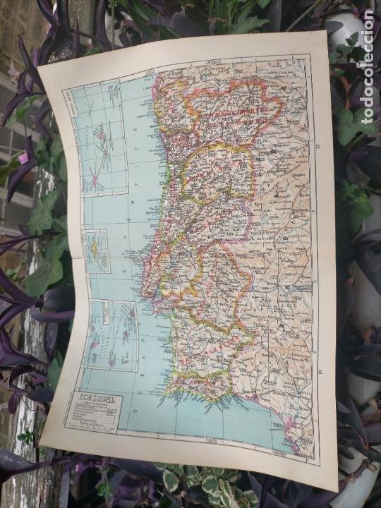 49X34 CM ANTIGUO MAPA ORIGINAL PORTUGAL . ISLAS DE CABO VERDE MADEIRAS AZORES (Coleccionismo - Mapas - Mapas actuales (desde siglo XIX))