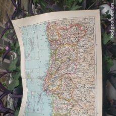 Mapas contemporáneos: 49X34 CM ANTIGUO MAPA ORIGINAL PORTUGAL . ISLAS DE CABO VERDE MADEIRAS AZORES. Lote 253718255