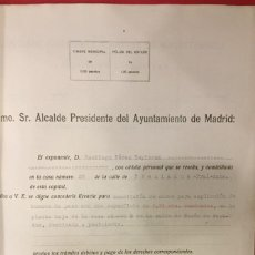 Mappe contemporanee: ARQUITECTURA, PLANO DE LA CASA MESON DE PAREDES, LICENCIA DE OBRA MADRID 1930 S. PEREZ ESPINOSA. Lote 253805540