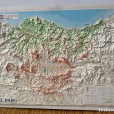 Mapas contemporáneos: MAPA PAÍS VASCO A RELIEVE - ESCALA 1: 285.000. Lote 254118900