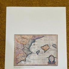 Mapas contemporáneos: * REPRODUCCIÓN * REINO DE VALENCIA * VALENTIA, MURCIA CUM INSULIS MAJORCA, MINORCA .. AMSTERDAM 1628. Lote 254346805