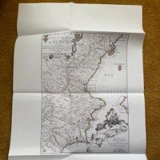 Mapas contemporáneos: * REINO VALENCIA * REPRODUCCIÓN * LES ROYAUMES DE VALENCE .../ NICOLAS DE FER - PARÍS 1709. Lote 254348685
