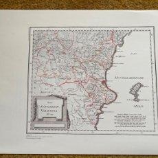 Mapas contemporáneos: * REINO DE VALENCIA * REPRODUCCIÓN * VALENCIA / FRANZ J. REILLY -VIENA 1791. Lote 254358305